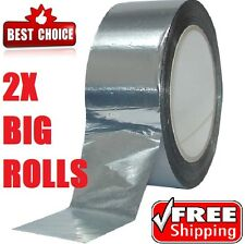 2 Rolls Celotex/Kingspan Aluminium Foil Insulation Tape 50mm x 50m Self Adhesive