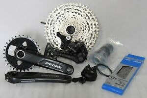 NEW 2021 Shimano Deore 12 speed Group M6100 10-51t 175mm Crankset 30T Boost- USA