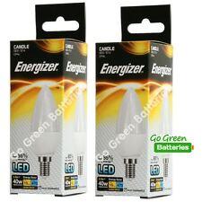 2x Energizer E14 5.9 Watt Candle LED Bulb. 470 Lumens. Equivalent - 40W (Opal)