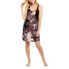 SECRET TREASURES Maternity Sleeveless Full Coverage Chemise Gown - BLACK - Small