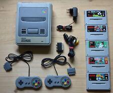 SNES - Super Nintendo Konsole mit 2 Controller + 5 Spiele (guter Zustand)