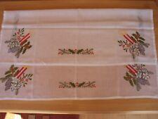 Weihnachtsdecke Mitteldecke Weiß 85 x 85 Polyester Saum Motivdruck Kerzen-Zweige