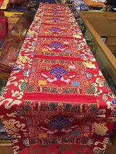 Tibetan Large Endless Knot silk brocade Shrine/table/cover/cloth/runner/205 Cm