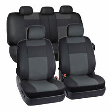 9PCS PU Leather Auto Car Seat Cover Protector Fits 40/60 50/50 60/40 Bench Seats