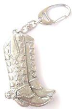 Cowboy Boot Fatto artigianalmente da Peltro Solido nel Regno Unito Portachiavi