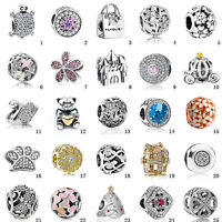 Luxury European Silver Charms Bead 925 For sterling Bracelet Chain Necklace ice1