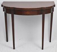 Charak Furniture Company Bench Made Mahogany Hepplewhite Flip Top Game Table