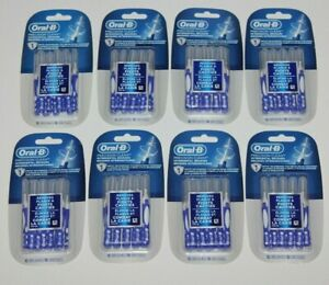 LOT (8) ORAL-B PRECISION CLEAN INTERDENTAL BRUSHES REMOVES PLAQUE ORALB