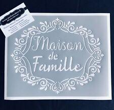 Pochoir Adhésif Réutilisable 25 x 20 cm Médaillon Baroque Maison De Famille