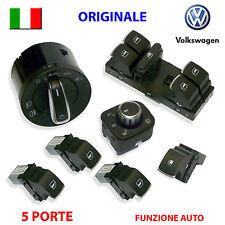 7 Pulsanti VW GOLF 5 6 V VI ORIGINALI pulsantiera devioluci interruttori AUTO