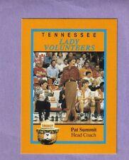 RARE Pat Summitt The Greatest UT Lady Vols Team Issued Card 1993-94 Season NCAA