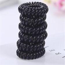 Hold It Gold Metallic Colour Spiral Stretchy Hair Bobbles Hair Rings 3pkx3.5cm