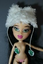 Bratz Barbie Fuzzy White Cat Hat & Mittens Doll Clothing Accessories