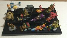Konami Wacky Races Figure Full Set With Plastic Case ! Very RARE