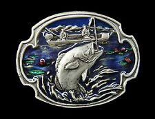 FISH FISHING FISHERMEN TROUT SALMON BASS BELT BUCKLE BOUCLE DE CEINTURE