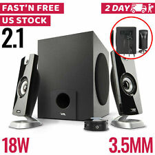Computer Pc Speakers 2.1 Desktop With Subwoofer Audio Laptop Usb Portable Mini