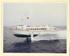 1966-70s Maritima Antares Hydrofoil Ferry Corsario Negro 8x10 Original Photo #3