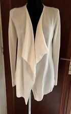 cardigan 100% Cachemire Neuf étiquette S 36 38 40 ERINLY gilet veste écru