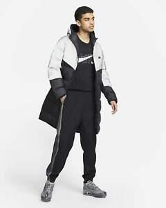Nike Shield Parka Down-Fill Coat Men's M Black Silver