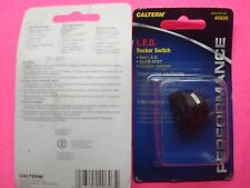 CALTERM L.E.D. RED ILLUMINATED TOGGLE ROCKER SWITCH 25A 12V ON/OFF 15/16 HOLE