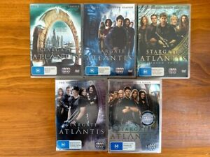 """Stargate Atlantis"" - Seasons 1 to 5 Complete - Region 4 DVDs - Like new"