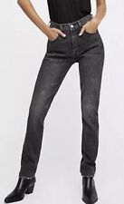 New Levi's 27x28 Altered 501 Black Skinny Jeans Redone VTG 26 Grey High Waisted