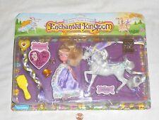 NEW Enchanted Kingdom FAIRY TALE PRINCESS & HORSE 1987 Marchon Guinevere Jasmine