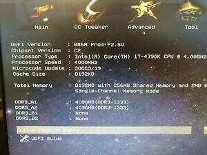Intel i7-4790k CPU, Asrock B85M PRO 4 motherboard 8GB Samsung ram bundle