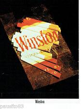 PUBLICITE ADVERTISING 115  1978  WINSTON  cigarettes