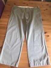 BHS Atlantic Bay Mens Trousers Green W40 L27 Adjustable Waist