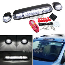 3x Roof Cab Marker Lights White LED For 2002-2007 Chevy Silverado GMC Sierra