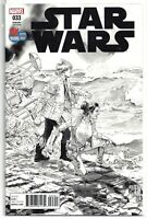 Star Wars #33 Black and White Sketch 2017 SDCC Exclusive Ltd to 5000 Marvel NM