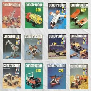 CONSTRUCTION Metallbaukasten / Stabilbaukasten der DDR Bauanleitungen Spielzeug