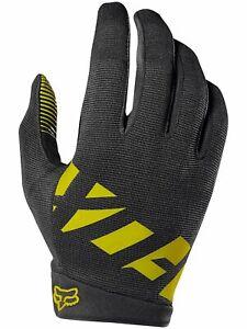 2020 Fox Black/Yellow  Mens Ranger Gloves Racing Mountain Bike BMX MTX MTB