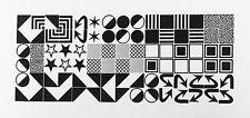 New Letterpress Type = 24pt. Squares, Arrows, Grids