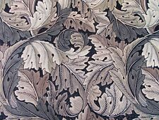 William Morris Curtain Fabric 'ACANTHUS' 0.5 METRES (50cm) Charcoal/Grey Velvet