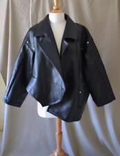 Comme des Garcons Black Faux Leather Oversized Asymmetrical Jacket Size XS