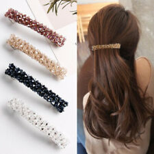 Fashion Women Girls Bling Headwear Crystal Rhinestone 6 Color Elastic Hair Clip