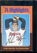 1975 Topps Mini #5 Nolan Ryan HL Fans 300 forrd Year in a Row Card