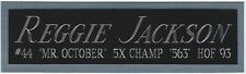 REGGIE JACKSON NEW YORK YANKEES NAMEPLATE FOR AUTOGRAPHED SIGNED BASEBALL JERSEY