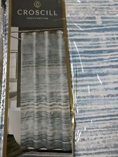 """Croscill Nomad Fabric Shower Curtain - Blue - 100% Polyester 72"""" x 72"""""""