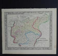 Antique Map, Mitchell, 1865 Prussia, German States M8#16