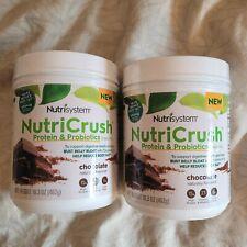 Nutrisystem NutriCrush Shake Mix Chocolate Protein Probiotics 2 Bottles 16.3oz/e