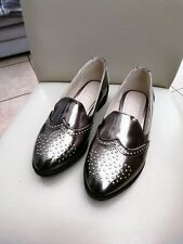 Ladies Sole Diva Pewter Flat Loafers Shoes Size 5EEE New