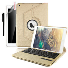 2017 iPad 9.7 A1822/1823 360Rotating Leather Case Stand WITH Bluetooth Keyboard