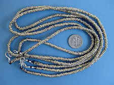 2 handmade kuchi tribal heishe metal spacer bead necklace Lot belly dance 49831a