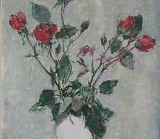 Flögerhöfer Paul 1905-1984 STILLEBEN mit roten Rosen Remscheid Wuppertal