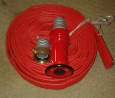 Fire hose kit CRUSADER  38mm x 10m  NEW with screw fittings and nozzle