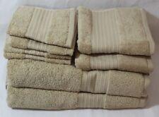 Ralph Lauren Greenwich Eight Piece Bathroom Towel Set Solid Dune (Beige) New