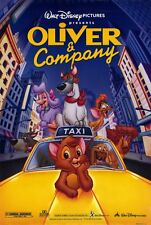 """Walt Disney's OLIVER AND COMPANY RR1996 DS 2 Sided 27x40"""" Movie Poster"""